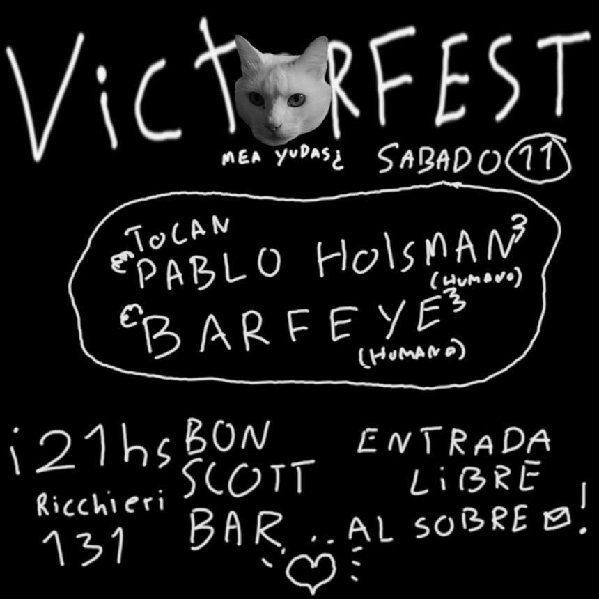 Victorfest: Pablo Holsman y Barfeye juntos en Bon Scott Bar a beneficio