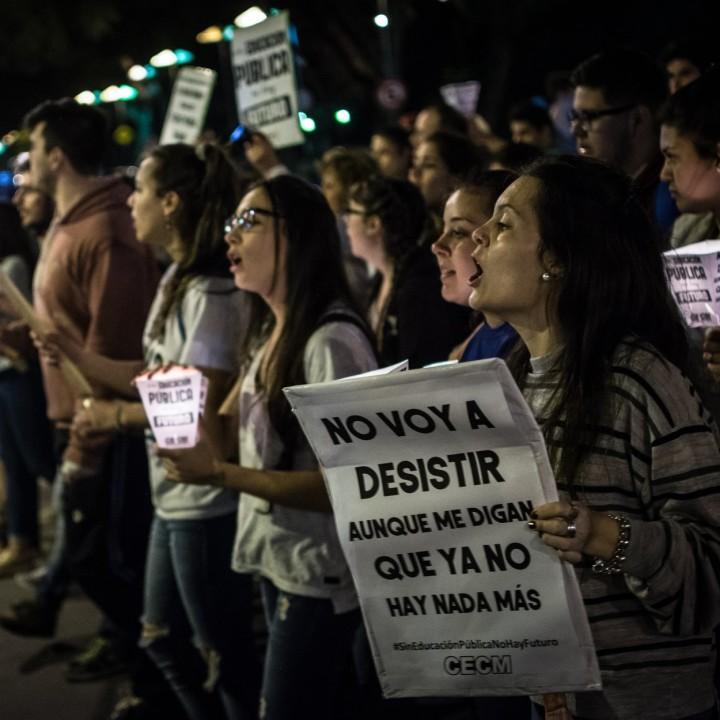 Día y noche de lucha por la educación pública