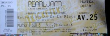 Crónicas Blindadas: Pearl Jam  en Argentina    07 – 11 – 2015 (Estadio único de la Plata)